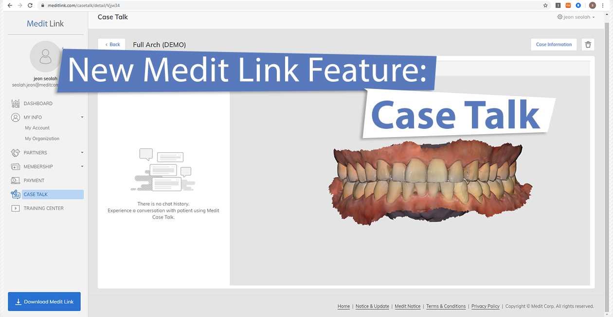 New Medit Link Feature: Case Talk